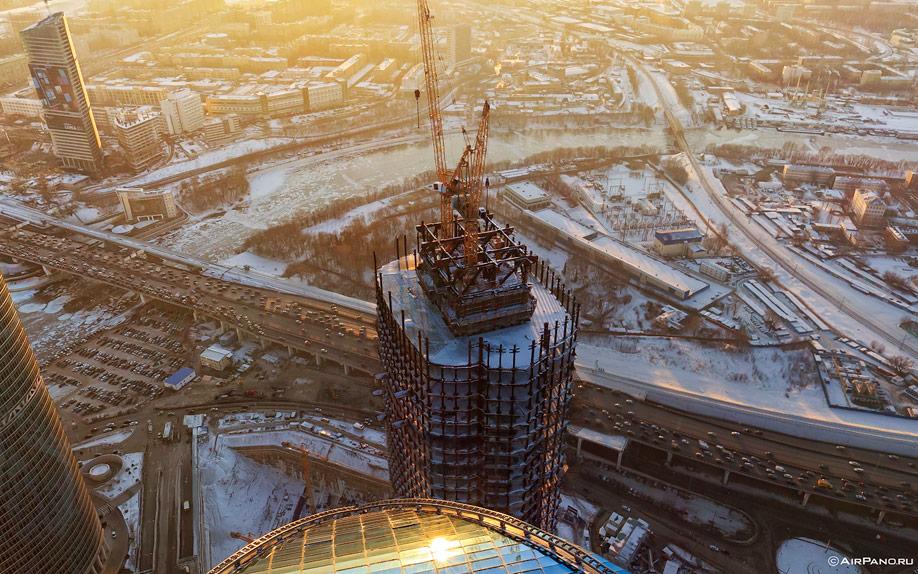 Москва-Сити с воздуха
