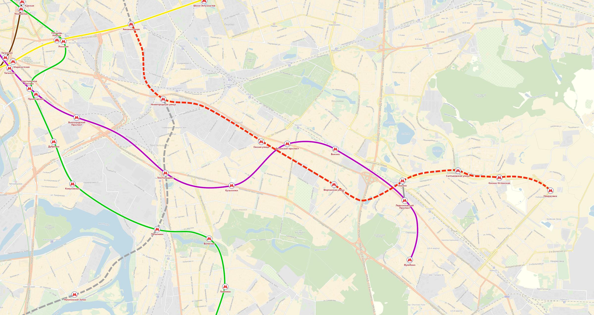 схема метро в косино ухтомская