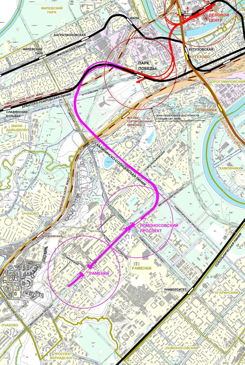 Схема метро новая калининская солнцевская линия