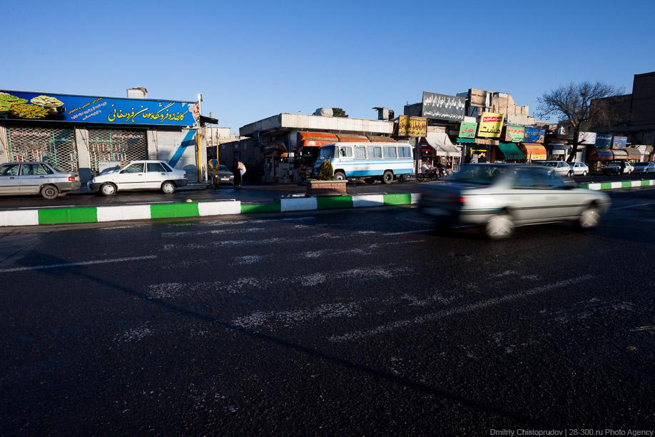 20 Иран. Город Кум и дорога в Исфахан, Иранские правила дорожного движения